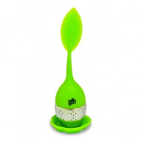 Zaparzacz do herbaty i ziół silikonowy zielony