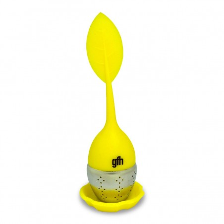 Zaparzacz do herbaty i ziół silikonowy żółty