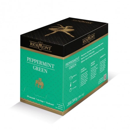 Herbata zielona Richmont Peppermint Green 50 saszetek