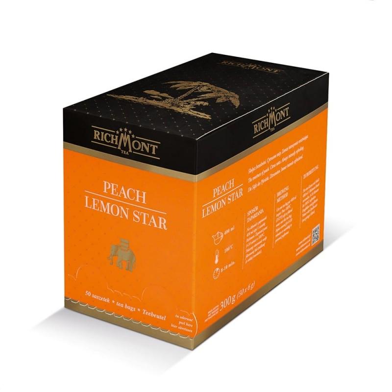 Herbata owocowa Richmont Peach Lemon Star 50 saszetek