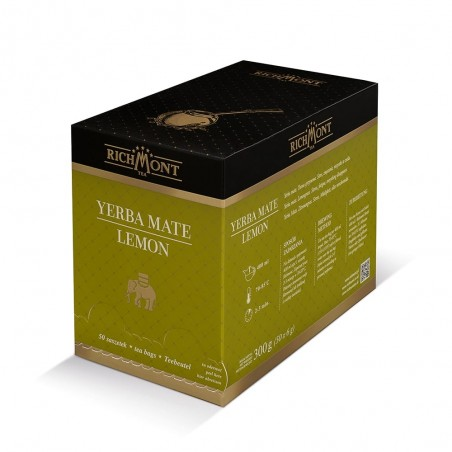 Herbata Richmont Yerba Mate Lemon 50 saszetek