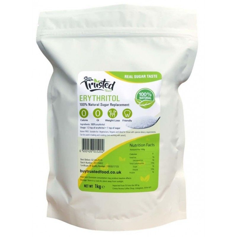Erytrytol Naturalny słodzik, cukier 1kg