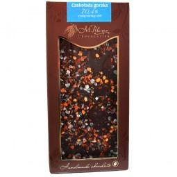 Czekolada gorzka z solą morską i chili 70,4% kakao