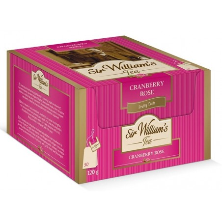 Herbata owocowa Sir Williams Tea Cranberry Rose 50 saszetek
