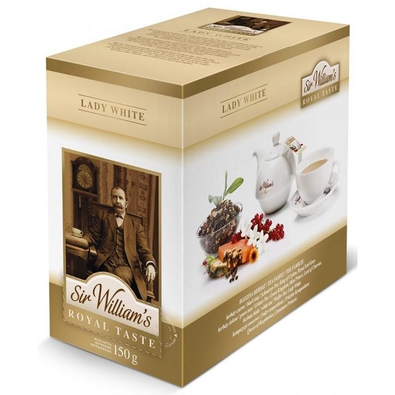 Herbata biała Sir Williams Royal Lady White 50 saszetek