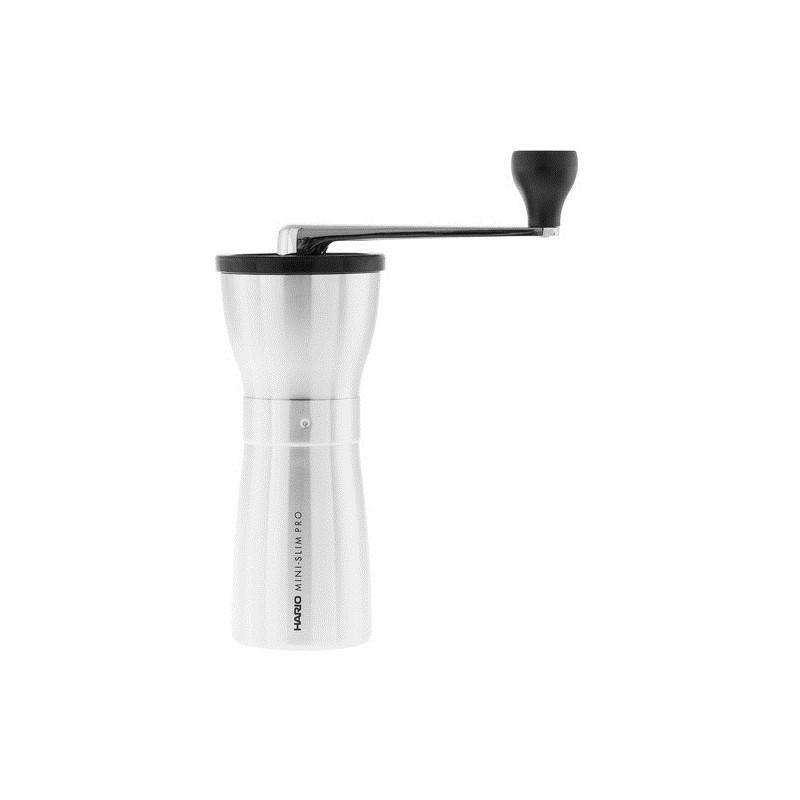 Hario Mini Mill Slim Pro srebrny- ceramiczny, ręczny młynek do kawy