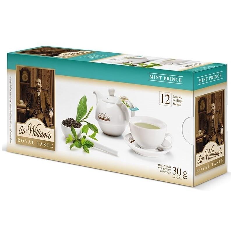 Herbata zielona Sir Williams Royal Mint Prince 12 saszetek
