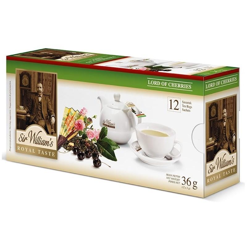Herbata zielona Sir Williams Royal Lord Of Cherries 12 saszetek