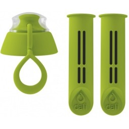 Filtry do butelki Dafi 2 szt + nakrętka zielone