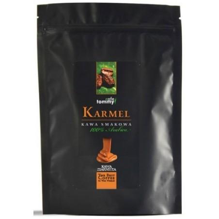 Kawa ziarnista smakowa Karmel Tommy Cafe 250g