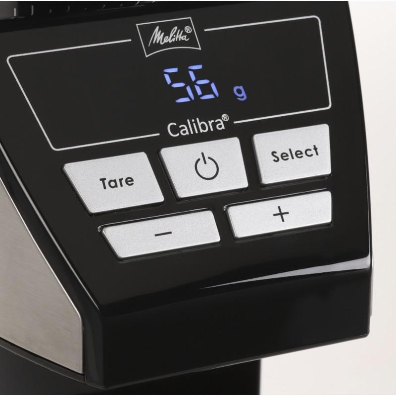Młynek do kawy z wagą Melitta Calibra 1027-01 stal