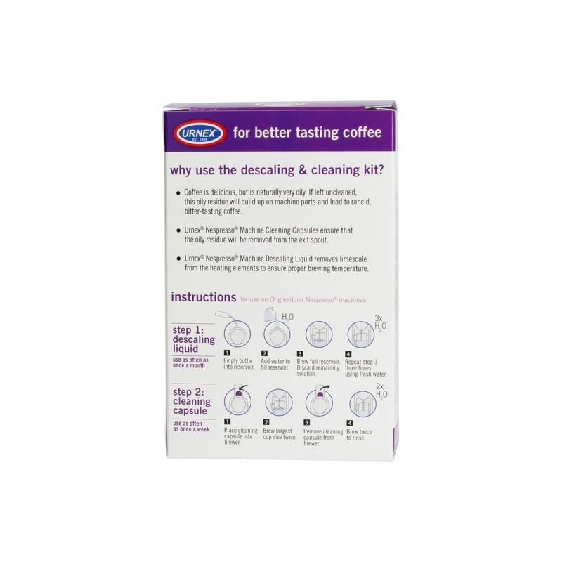 Urnex Zestaw Odkamieniająco-czyszczący do Nespresso