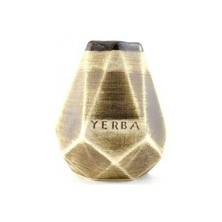 Matero Ceramiczne Diament do Yerba Mate 350 ml miodowe