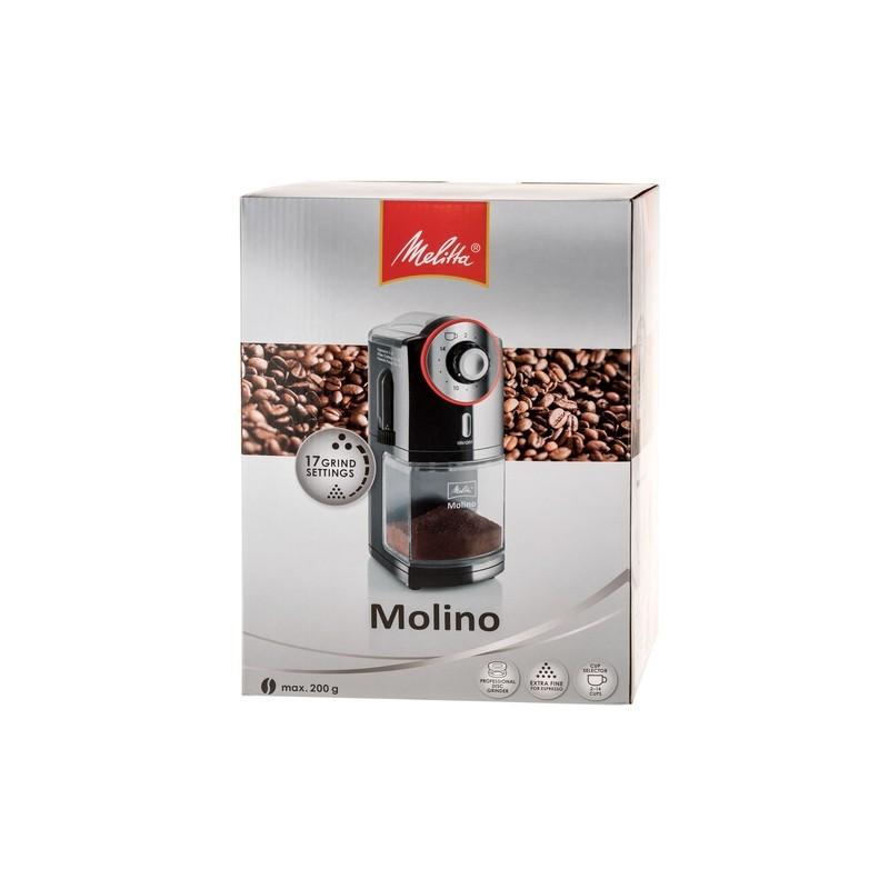 Młynek do kawy Melitta Molino 1019-02 automatyczny - czerwono-czarny