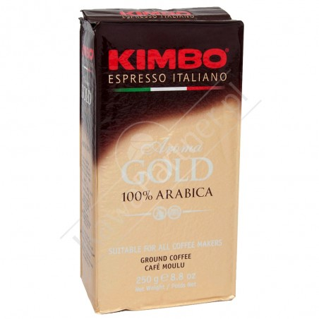 Kawa mielona KIMBO AROMA GOLD 250g OUTLET