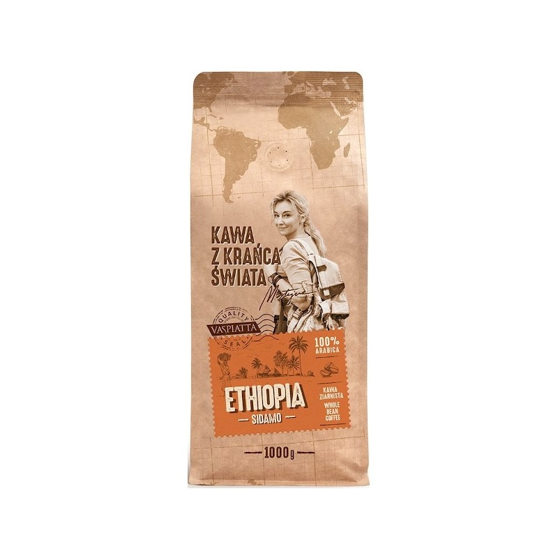 Kawa ziarnista z krańca świata Ethiopia Sidamo  1kg