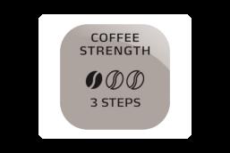 Regulowana moc kawy